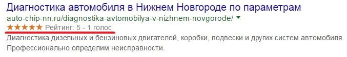 Отображение оценок в Google